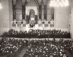 Sacred Service at Temple Emanu-El, San Francisco 1955